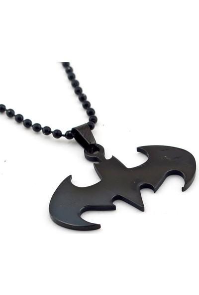 Solfera Batman Dark Knıght Siyah Paslanmaz Çelik Kolye K972