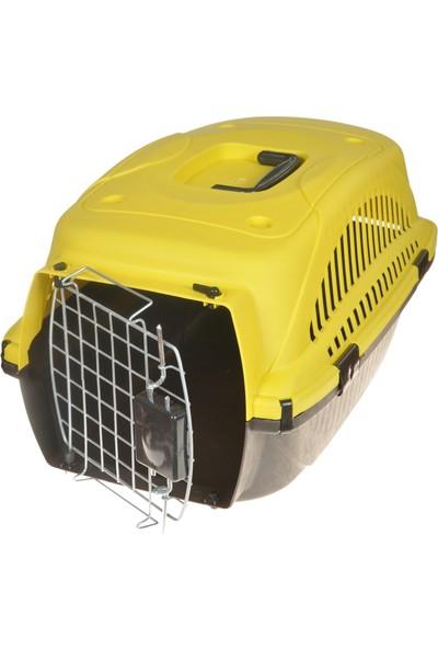 Yopigo Kedi Köpek Taşıma Kafesi Tel Kapılı Sarı