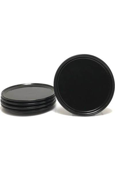 Serami̇kçi̇ Siyah Parlak 6 Lı Pasta Tabağı