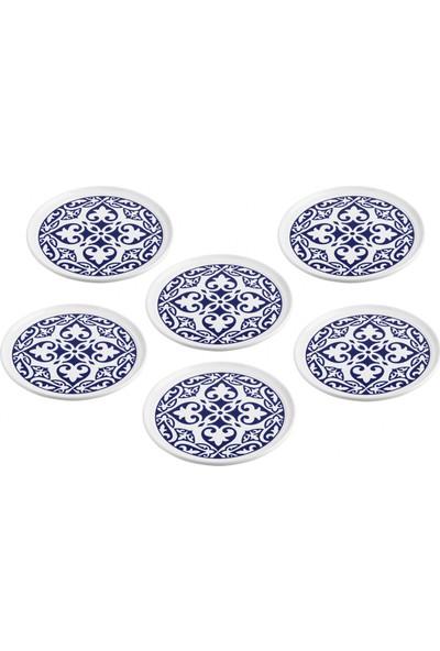 Serami̇kçi̇ Maviş Dekor 6 Lı Pasta Tabağı