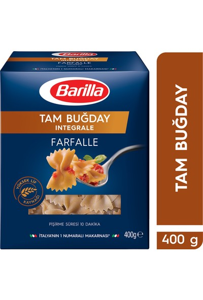 Barilla Tam Buğday Kelebek/Integrale Farfalle Makarna 400 Gr