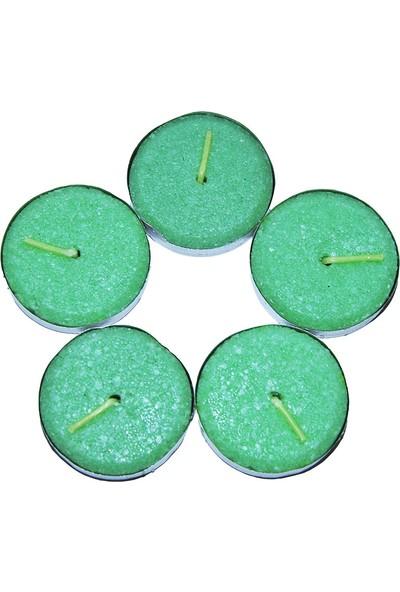 Ksmart Tea Lights Yeşil Mum 5Ad
