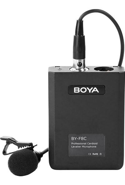 Boya BY-F8C Tek Yönlü Akustik Vokal Yaka Mikrofonu