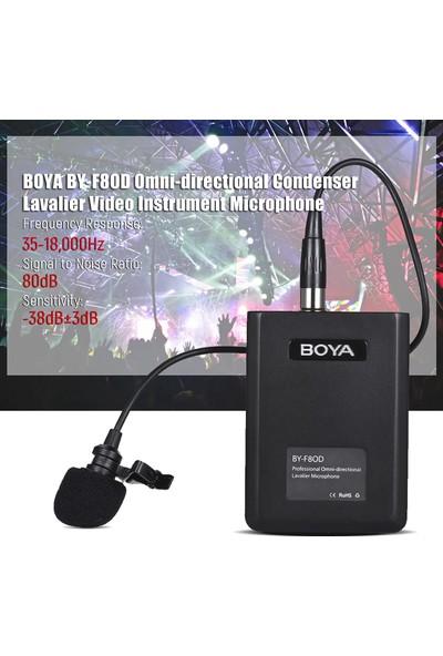 Boya BY-F8OD Çok Yönlü Akustik Vokal Yaka Mikrofon