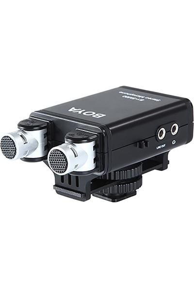 Boya BY-SM80 Profesyonel Stereo Kamera Mikrofonu