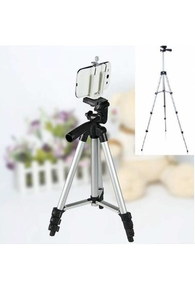 Heider Telefon ve Kamera Tutucu Tripot Ayak 105 cm (Telefon Tutuculu)