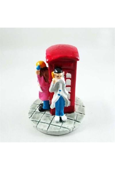 E-fidancim Minyatür Telefon Kulübesi Teraryum İçin