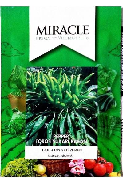 Miracle Tohum Miracle Toros Yediveren Yukarıbakan Acı Cin Biber Tohumu (10 gram)