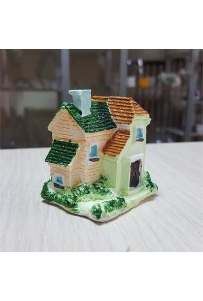 E-fidancim Teraryum İçin Mini Obhe Renkli Çatılı Ev