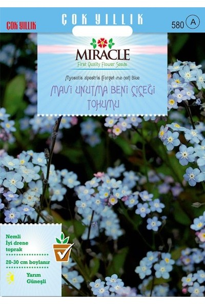 Miracle Tohum Miracle Mavi Unutma Beni Çiçeği Tohumu (800 tohum)