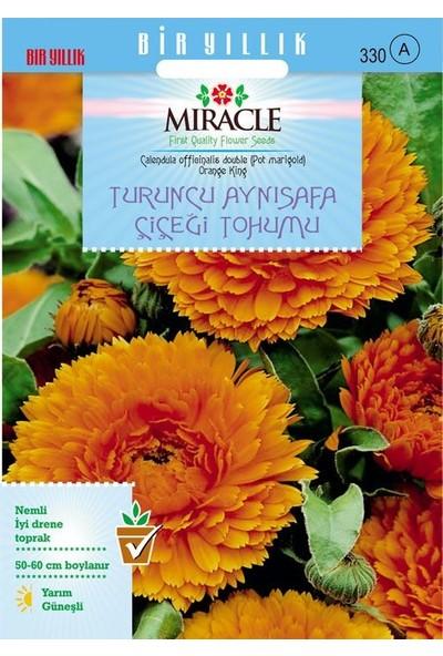 Miracle Tohum Miracle Turuncu Katmerli Aynı Safa Çiçeği Tohumu (300 tohum)