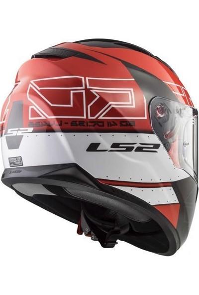 LS2 FF320 Evo Kub Kırmızı-Siyah Kask