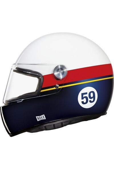 Nexx X.G100 Racer Grand Win Beyaz-Kırmızı-Mavi Kask