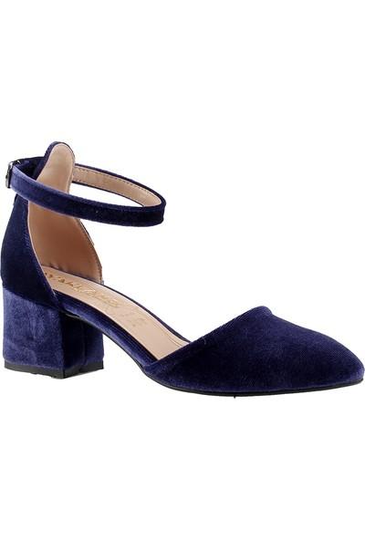 Ayakland 547-346 Kadife Kadın Ayakkabı