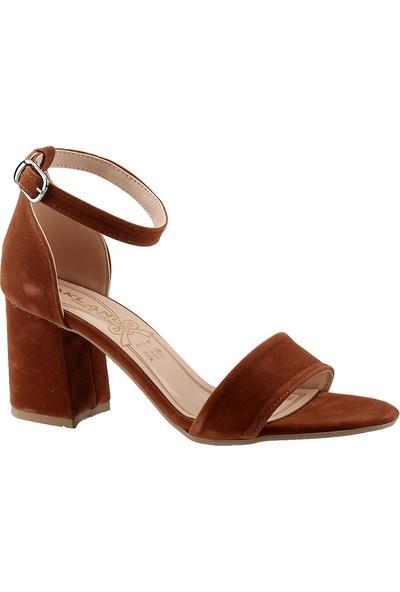 Ayakland 1005-62 Taba Süet Lu Kadın Ayakkabı