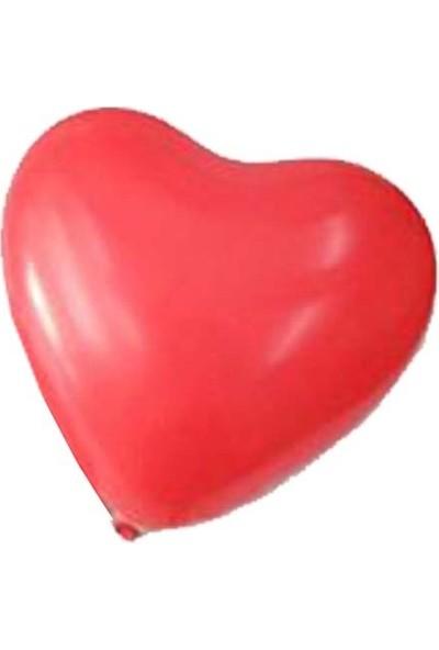 Hediye Mania Kalp Şeklinde Balon 25 Adet Kırmızı