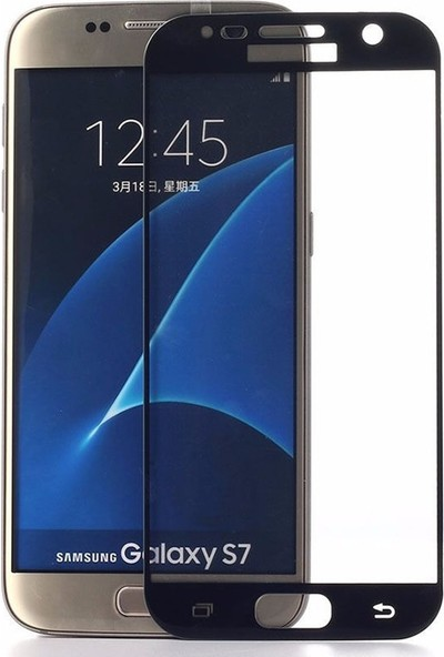 Microcase Samsung Galaxy J3 Pro J330 Tam Kaplayan Tempered Glass Cam Koruma