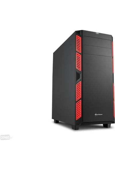 Sharkoon AI7000 Silent Kırmızı 3xFan ATX Kasa