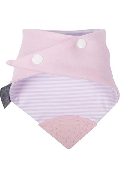 Cheeky Chompers Diş Kaşıyıcılı Fular Önlük - Cool Pink