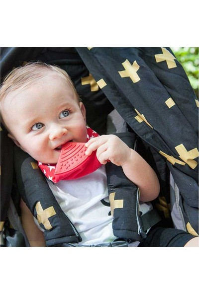 Cheeky Chompers Diş Kaşıyıcılı Fular Önlük - Red Stars