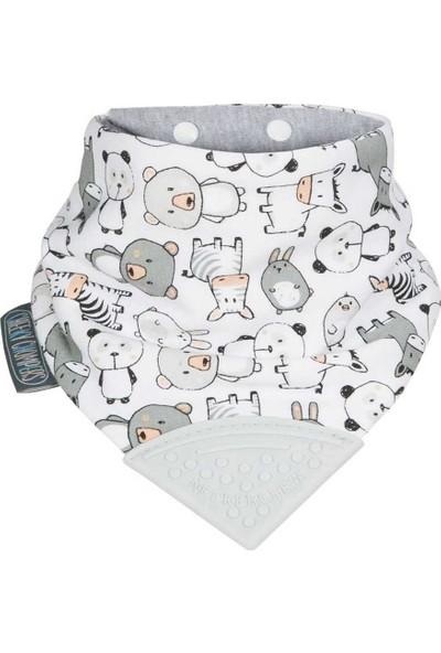 Cheeky Chompers Diş Kaşıyıcılı Fular Önlük - Panda Pals