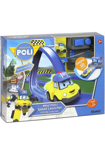Robocar Poli Fırlatıcılı Yol Seti