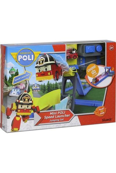 Robocar Poli Fırlatıcılı Yol ve Atlama Seti