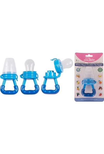 Sevi Bebe Silikon Meyve Emziği & Diş Kaşıyıcı - Mavi