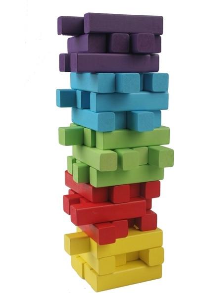 Mi-Toys Jenga Renkli 60 Parça