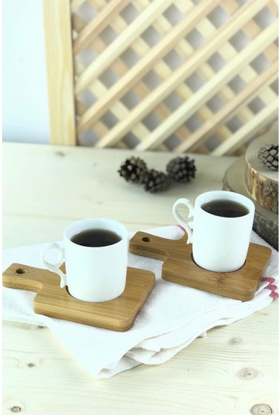 From NS 2'Li Bambu Kahve Fincan Takımı Model 5
