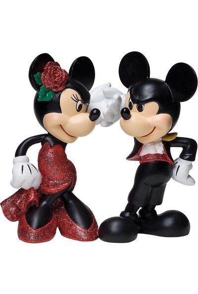 Enesco Disney Showcase Mickey and Minnie Paso Double Figurine 4-1/4-Inch
