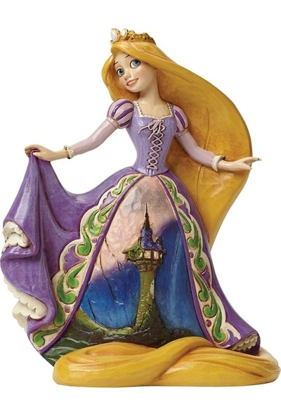 Enesco Disney Traditions Rapunzel with Tower Dress Figurine