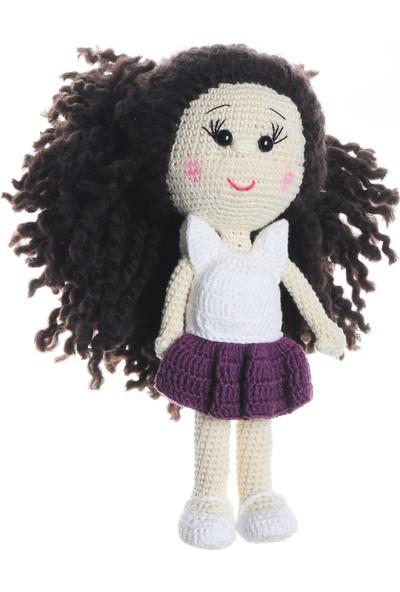 Dfnbaby Amigurumi Organik El Örmesi Kıvırcık Saçlı Kız