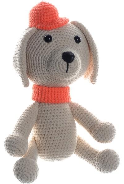 Dfnbaby Amigurumi Organik Yıkanabilir El Örmesi Şapkalı Köpek