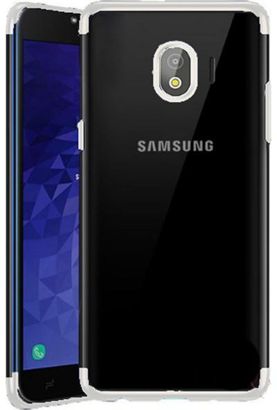 Happyshop Samsung Galaxy J4 2018 Kılıf 4 Köşe Laser Silikon+Cam Ekran Koruyucu
