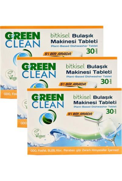 U Green Clean Bitkisel Bulaşık Makinesi Tableti 30'lu x 3 Adet