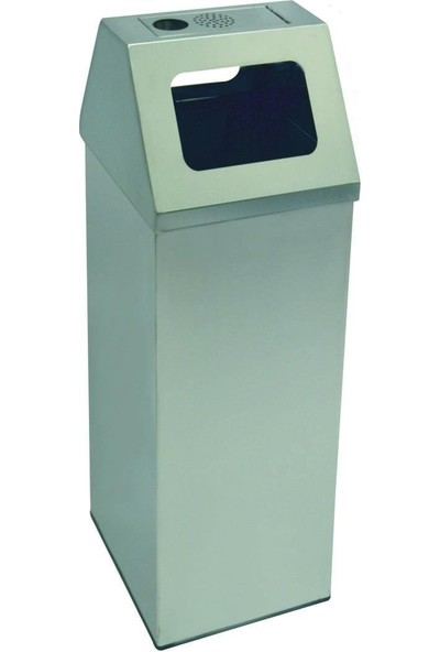 Arı Metal 1776 79 Lt Kare Kapaklı Çöp Kovası Küllüklü Paslanmaz 36X36X60+15 Cm