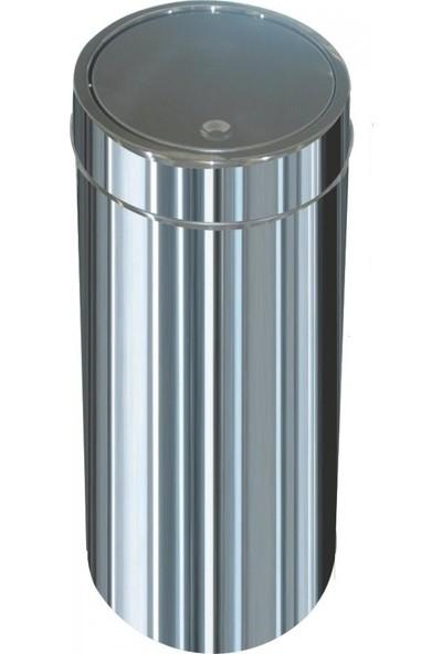 Arı Metal 1325 Dokunmatik Çöp Kovası Paslanmaz 34 Litre İtme Kapak 27*60 Cm