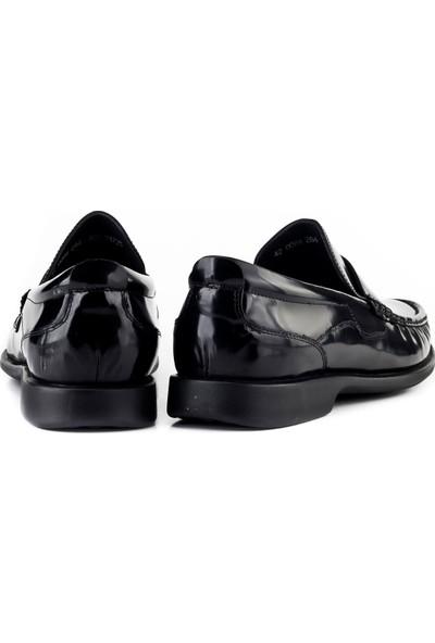 Cabani Bağcıksız Günlük Erkek Ayakkabı Siyah Açma Deri
