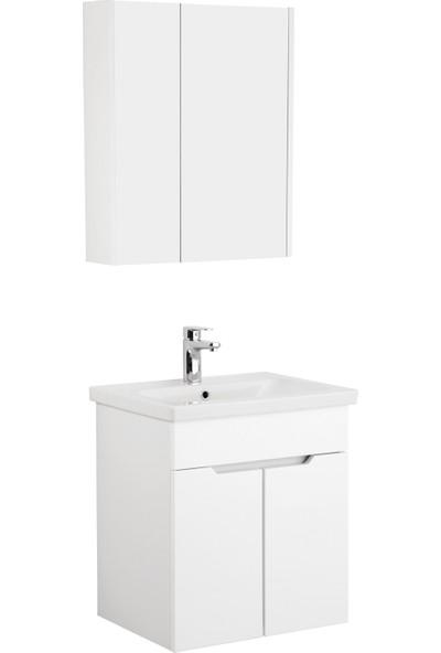 Kale Banyo Stora Banyo Dolabı Seti 60 cm Beyaz