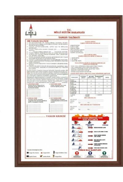 Aymi 50X70 Mdf Çerçeve Yangın Güvenlik Talimatı