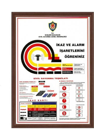 Aymi 50X70 Mdf Çerçeve İkaz Ve Alarmlar