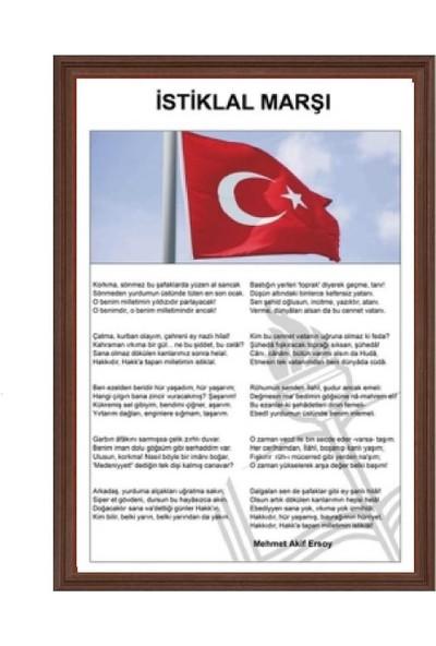 Aymi 35X50 Mdf Çerçeve İstiklal Marşı