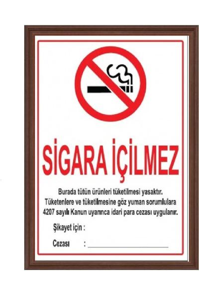 Aymi 35X50 Mdf Çerçeve Sigara İçilmez
