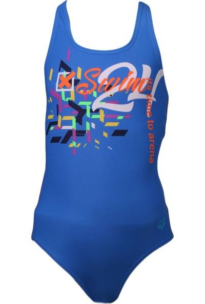 Arena Mavi Kız Çocuk Mayosu 113818 G Format Jr One Piece L