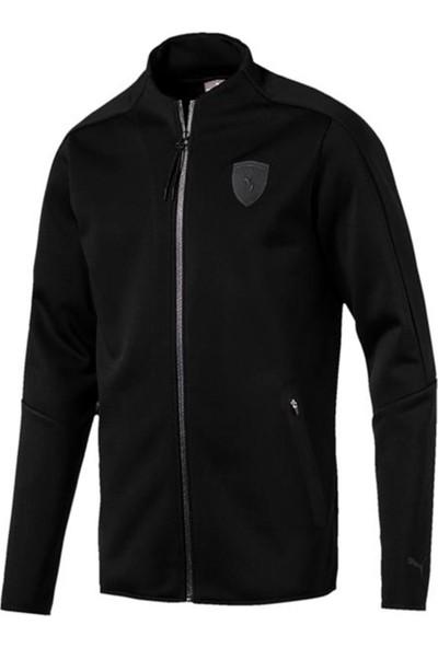 Puma Siyah Erkek Ceketi 57345511 Ferrari T7 Track Jacket