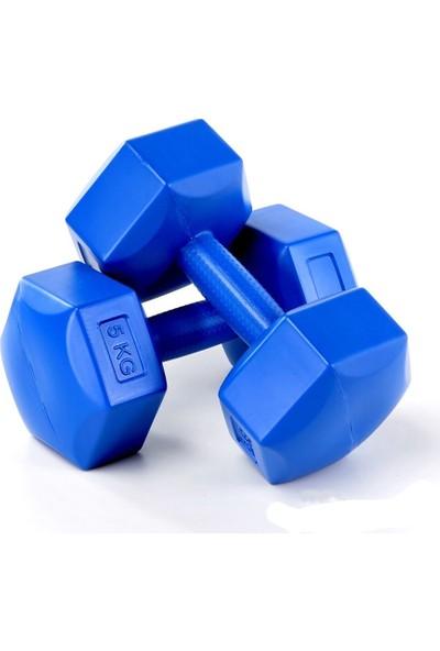 Spin 5 Kg X 2 Adet Plastik Mavi Dambıl Cs-568
