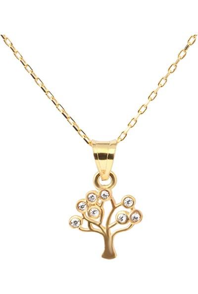 Ejoya Hayat Ağacı Altın Kolye Ucu