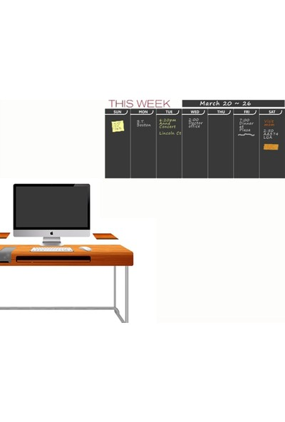 DekorLoft Haftalık Program Yazılabilir Sticker YZB-1038