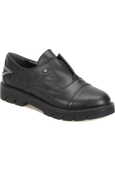 Butigo 18K-259 Siyah Kadın Maskulen Ayakkabı